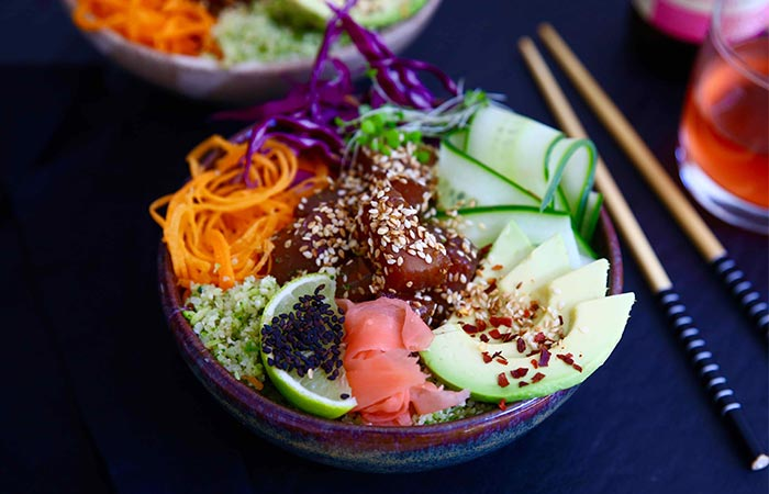 a bowl of healthy food