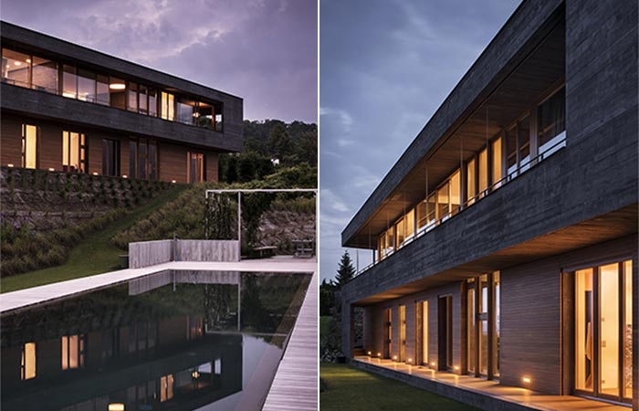 two images of Comano Villa