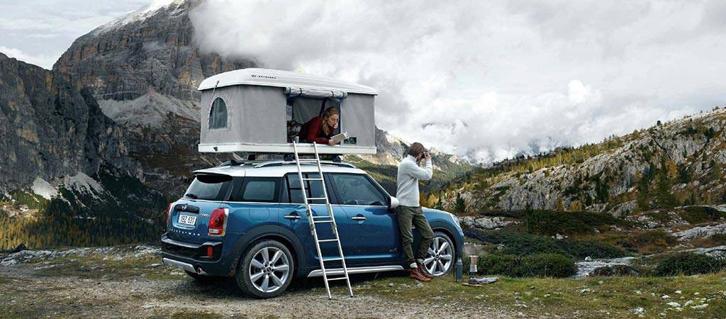 mini countryman rooftop tent. Black Bedroom Furniture Sets. Home Design Ideas