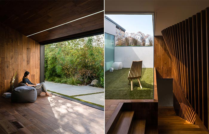 two images of Hide Out House