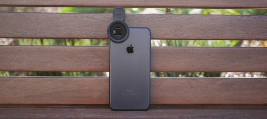 iPhone filter clip mount