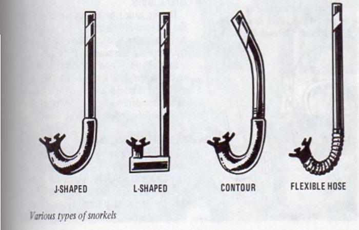 Types of snorkels