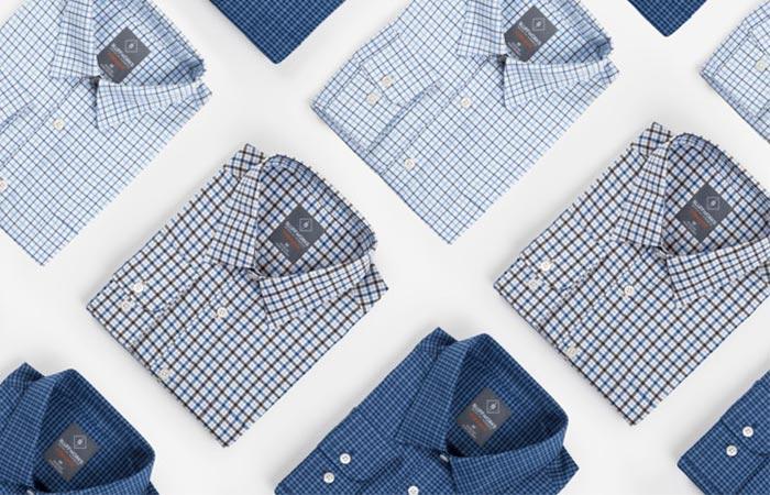three colors of Bluffworks Meridian Dress Shirt