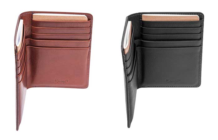 Danny P black and dark brown wallets for traveling