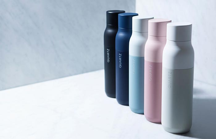 five colors of the QUARTZ Bottle