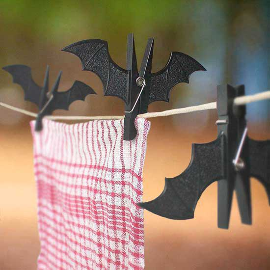 Batman black clothes pins
