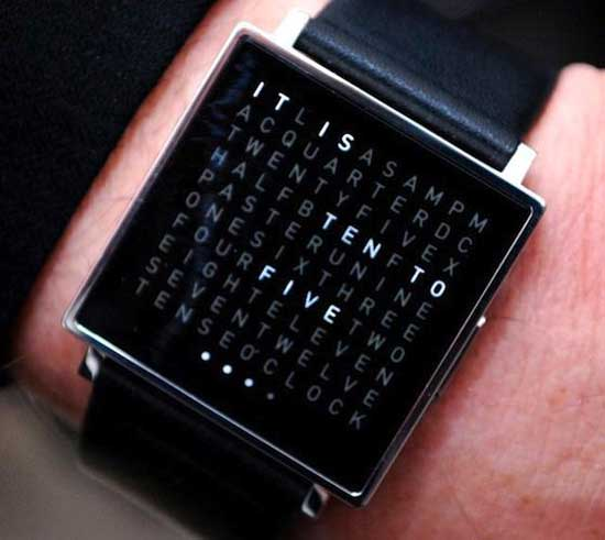 Black digital wristwatch for men