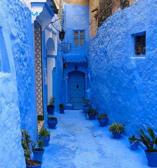 Chefchaouen Morocco blue city streets