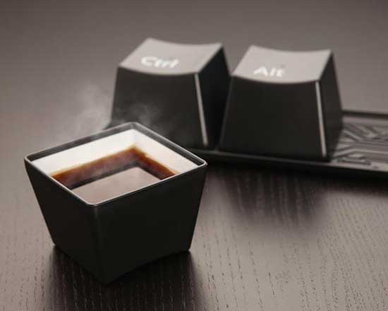 Ctrl-Alt-Del coffee cup set