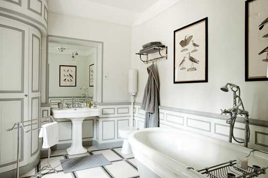 alexis toureau white vintage bathroom