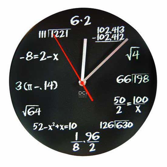 mathematics wall clock