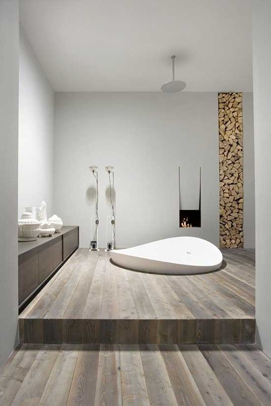 Minimal Design White Bathroom