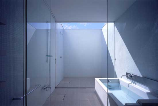 minimal white design bathroom