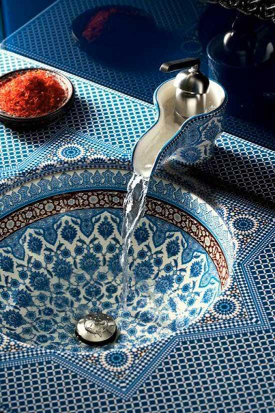 mosaic sink faucet