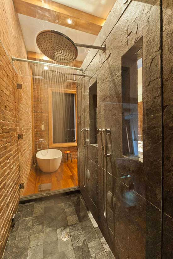 rain shower tub
