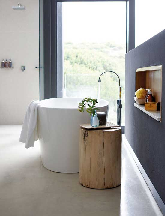 small white bath tub minimal design