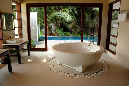 tropical style bathroom