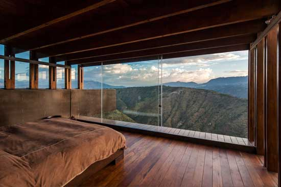 view from wooden bedroom