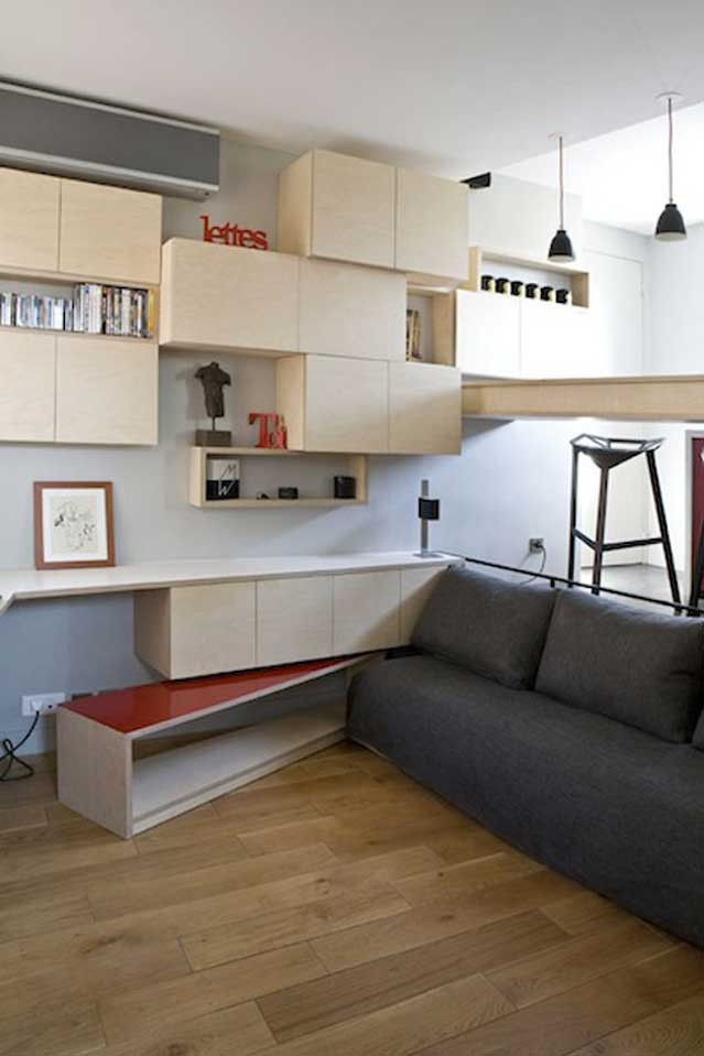 130 Square Foot Micro Apartment In Paris Big Tricks In A
