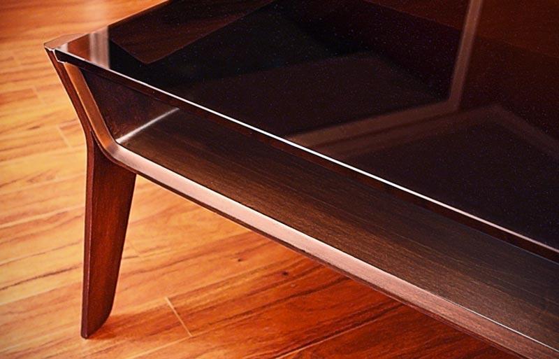 corner of of the Delgado table
