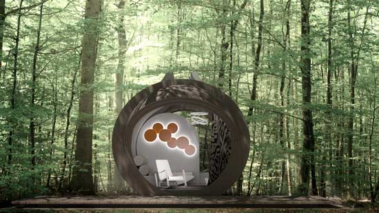 Drop Eco Hotel Exterior Design in the forest
