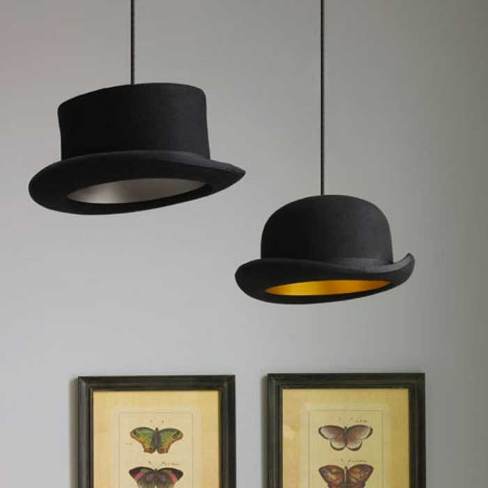 2 Jeeves & Wooster Pendant Lights hanging from the ceiling