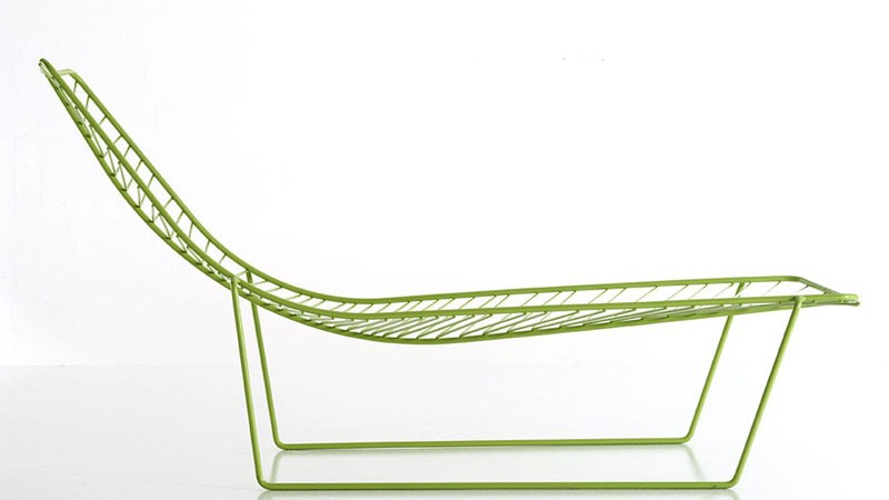 Green Leaf Chaise Longue Side view
