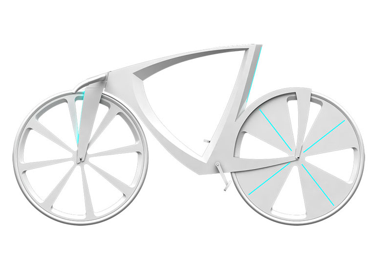 White Levitation concept bike side view