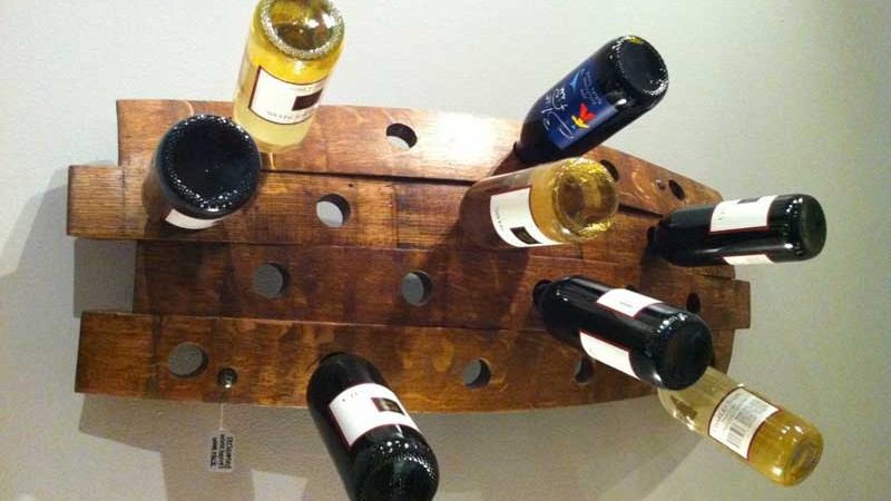 Serendipity Wine Rack Filled with wine bottles