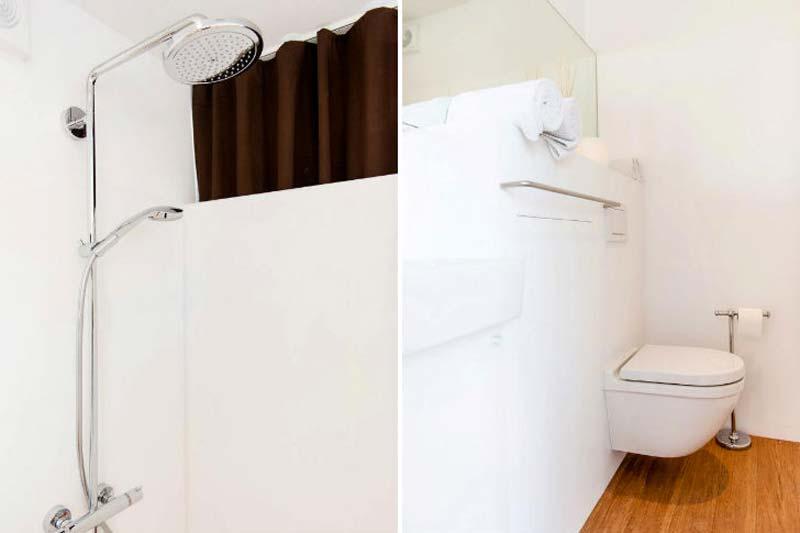 Sleeping Around Pop up Hotel Bathroom and Shower