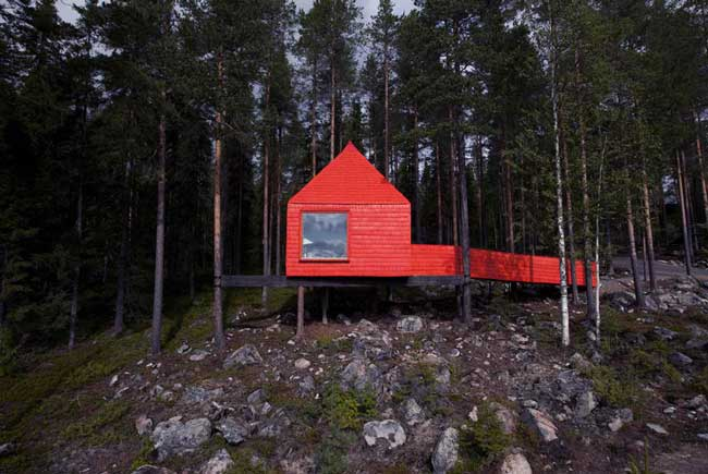 Treehotel Sweden Blue Cone Exterior