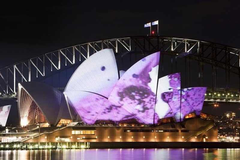 Sydney Opera during Vivid Festival