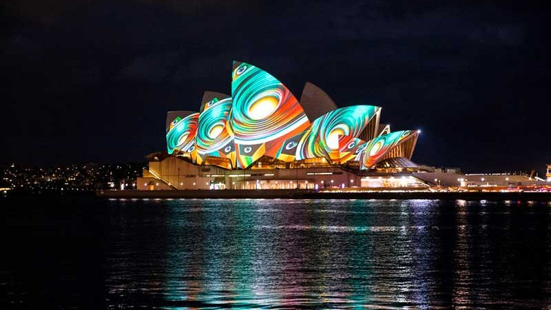 Sydney Opera House during the Vivid festival