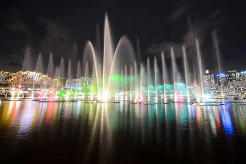 Vivid Festival Water Show