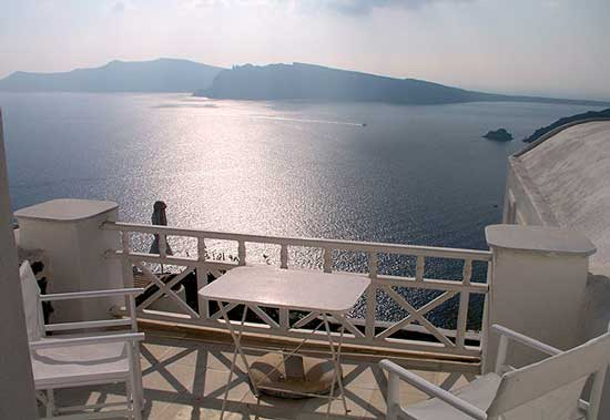 White House Villa Santorini scenery