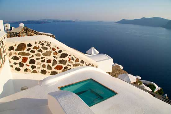 White House Villa in Santorini Greece
