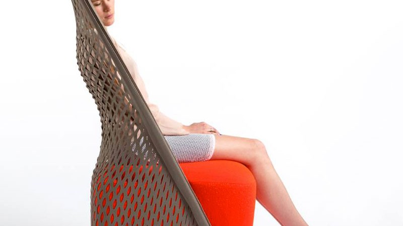 side view of 'Cradle' hammock chair