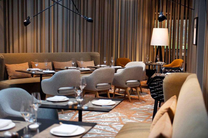 Restaurant in the Das Stue Hotel