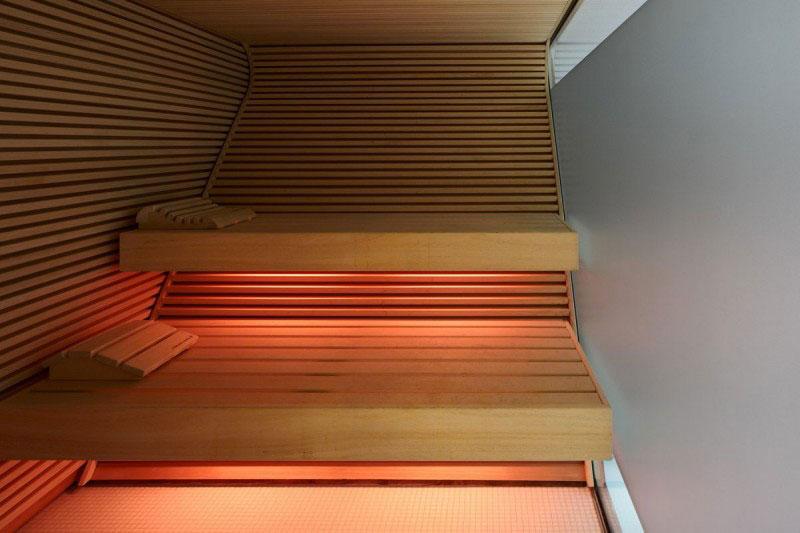 Sauna in the Das Stue Hotel