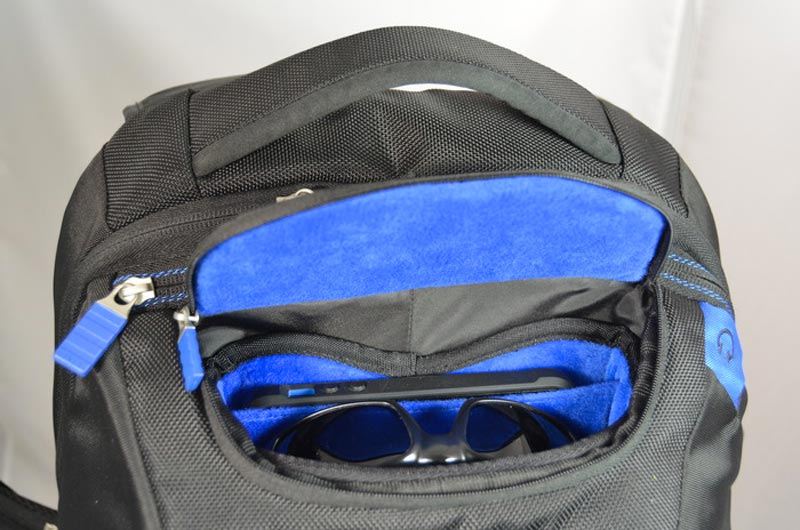ENERGI+ Backpack sun glass and phone compartement