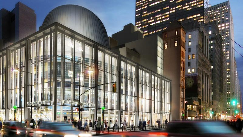 Exterior view of the Fulton Center Project