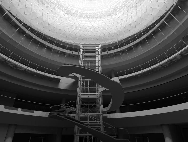 Interior view of the Fulton Center Project