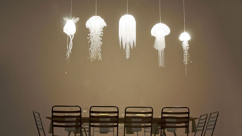 5 Medusae Pendant Lamps over the dining table