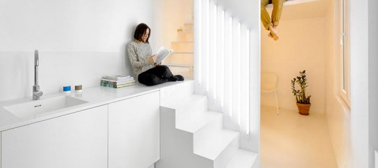 Micro Parisian Studio Apartment Uses Artificial Lighting to it's Advantage