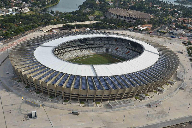 Mineirao Stadium in Brazil from the outside