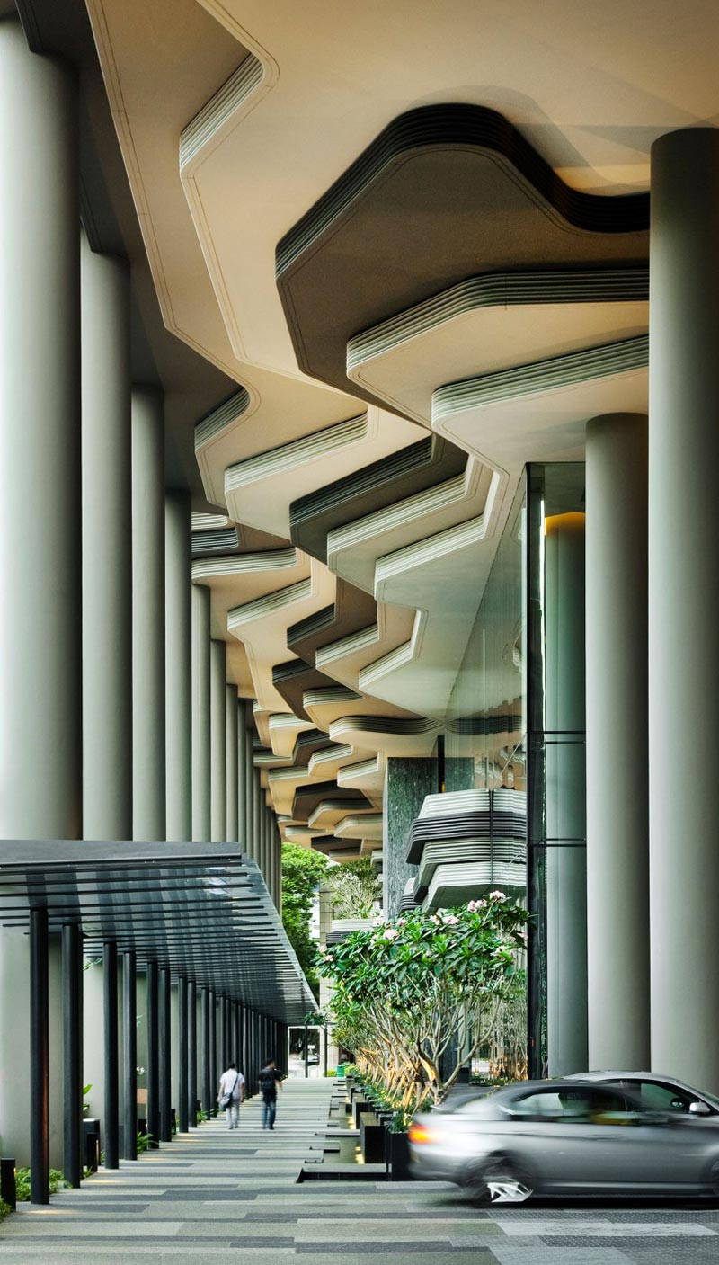 exterior ceilng at the Parkroyal Singapore