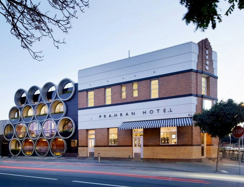 Exterior view of Prahran Hotel in Victoria