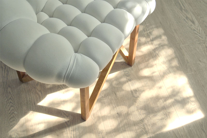 corner of the white Snobar Chair by Yonder Magnetik
