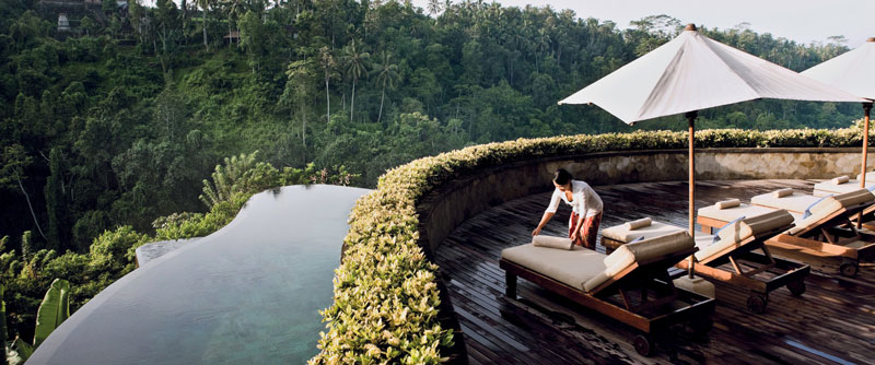 pool and scenery at the Ubud Hanging Gardens