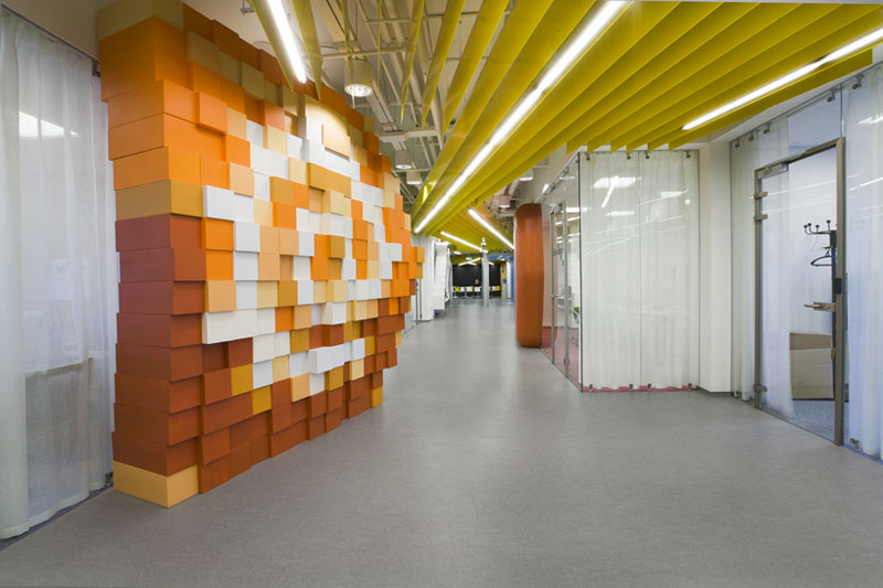 Hallway in Yandex St. Petersburg Offices